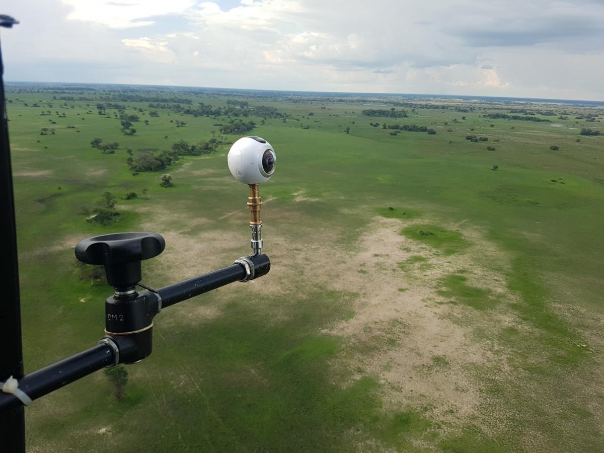 360Grad-VR-Kamera GoPro Omni an Helikopter