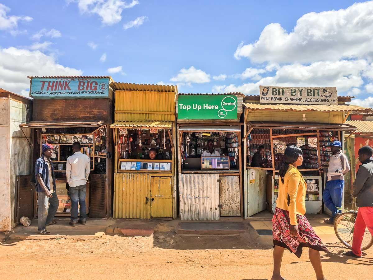 Markt in Mpika, einer bunten kleinen Stadt in Sambia