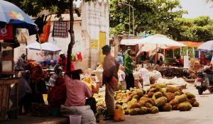 Lassen Sie das bunte Markttreiben in Stone Town auf Zanzibar auf sich wirken