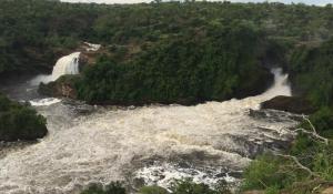 An den imposanten Murchison Falls in Ruanda fällt der Nil etwa 40 m tief in das Rift Valley hinab