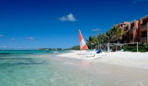 Strand von La Palmeira auf Mauritius
