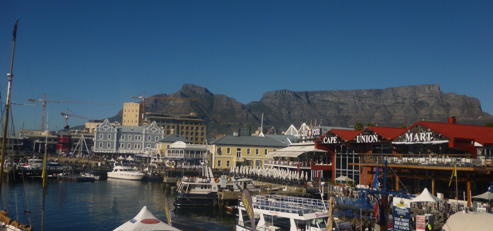 Erleben Sie das quirlige Treiben an der Waterfront in Kapstadt