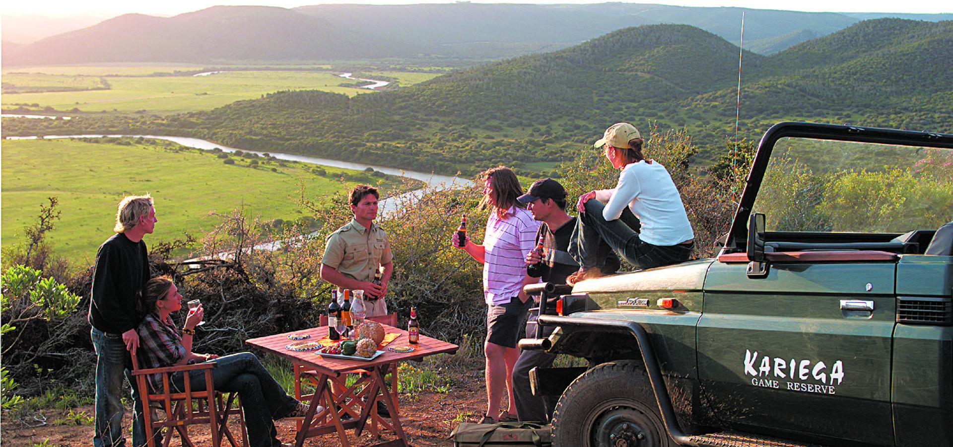 Sundowner im Kariega Game Reserve