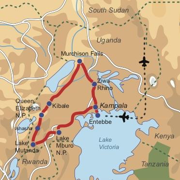 Best of Uganda -Privatgeführte Rundreise zu den Höhepunkten in Uganda