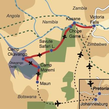 Reiseverlauf: Botswana Family Explorer - Familienabenteuer für Groß und Klein
