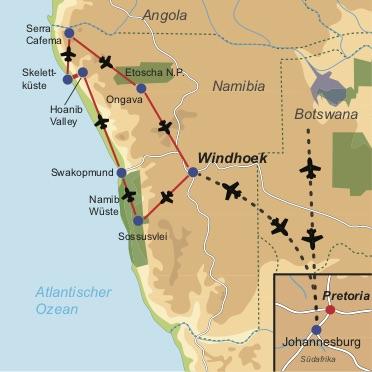Exklusives Namibia -Fly-In Safari zu den verborgenen Schätzen Namibias
