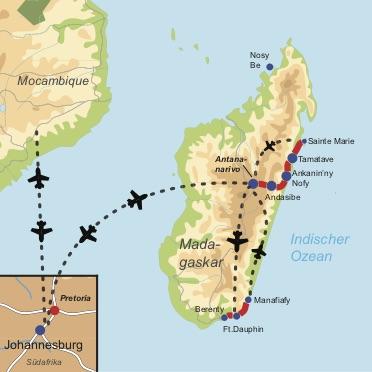 Privatgeführte Rundreise durch den Süden und Osten Madagaskars mit zwei Strandresorts