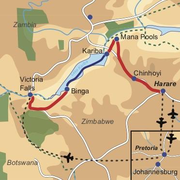 Zimbabwe – Highlights zu Wasser & zu Land - Gruppenreise, wahlweise mit deutsch oder englischsprachiger Reiseleitung