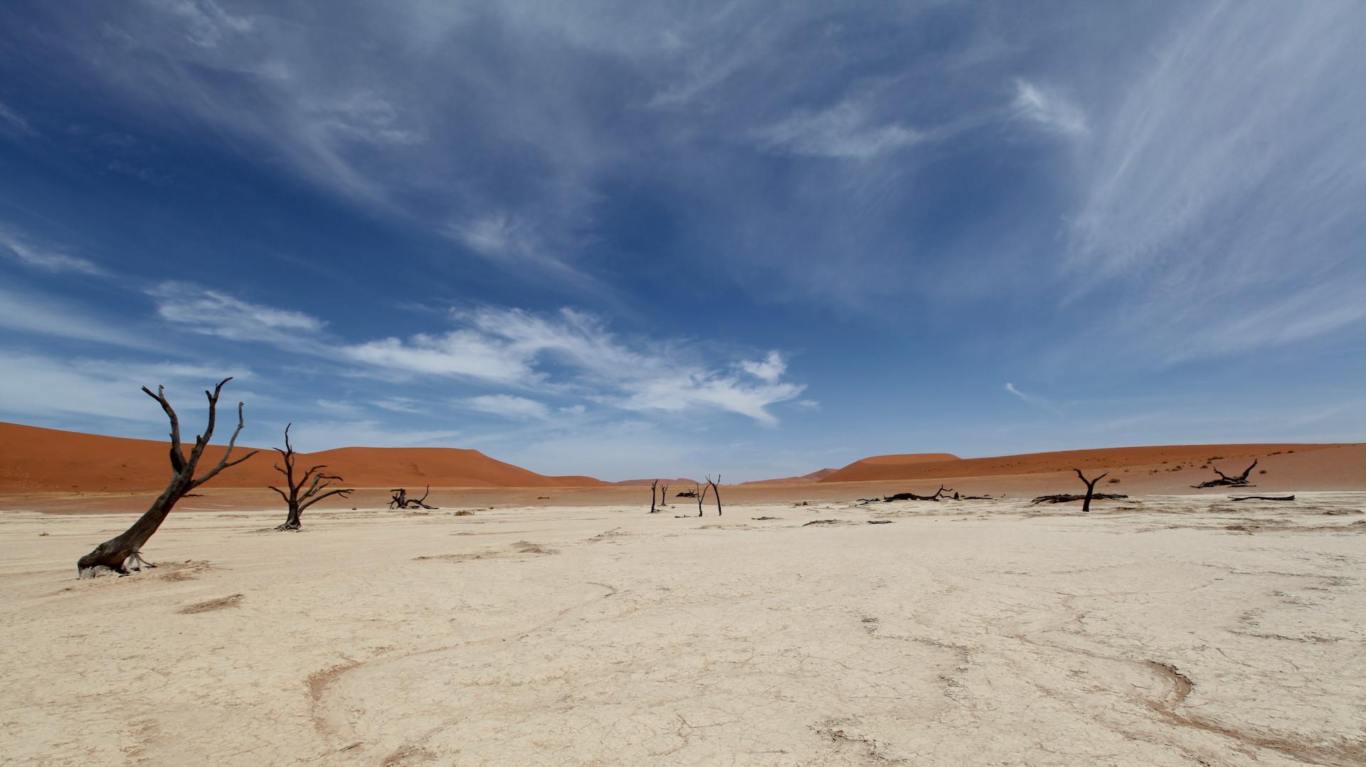 Salz Ton Pfanne Sossusvlei in Namibia