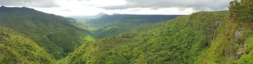 Wasserfälle in den Bergen von Mauritius