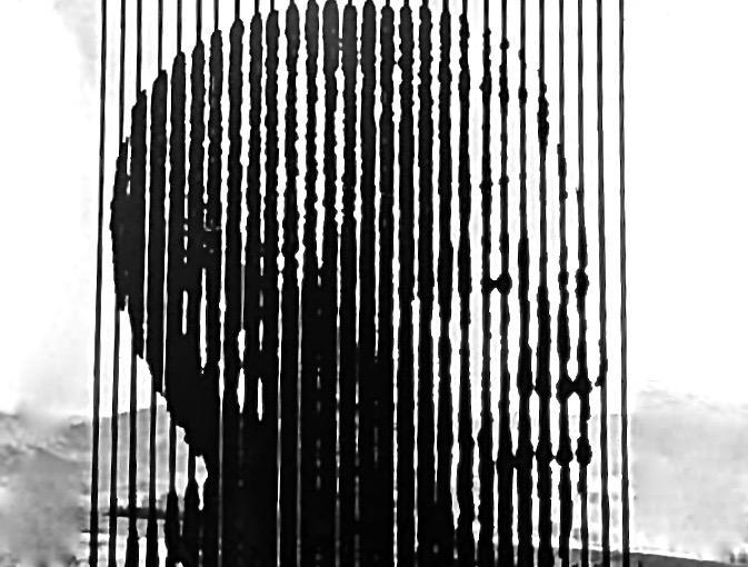 50 Stehlen zeigen Gesicht von Nelson Mandela