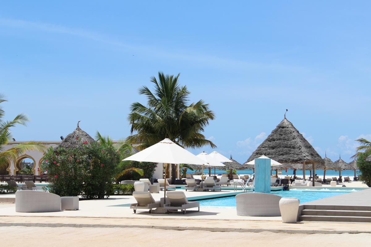Strandhotal auf Zanzibar