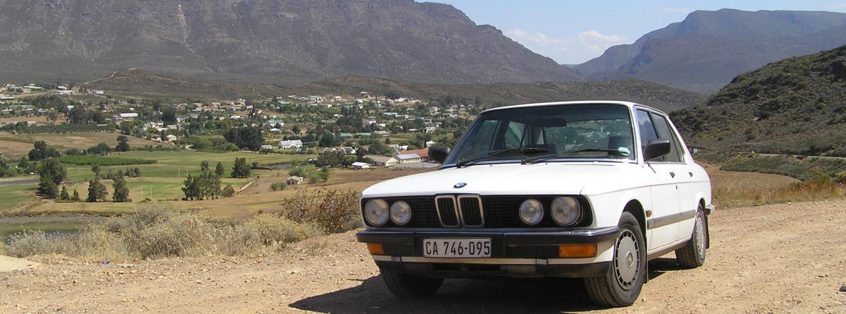 Mit dem alten Bmw-Cabrio Mietwagen als Selbstfahrer durch Südafrika fahren
