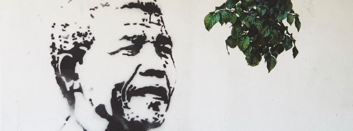Streetart Nelson Mandela Graffiti in Südafrika