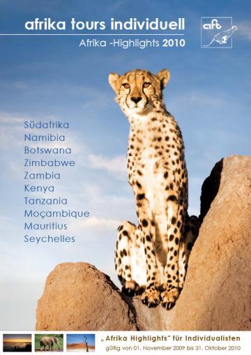 Afrika Tours Individuell Reisekatalog 2010
