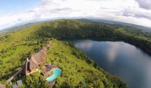 Panorama der Kyaninga Lodge
