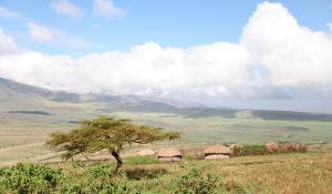 Beobachten Sie auf Ihren Pirschfahrten im Ngorongoro Krater die einheimischen Dörfer