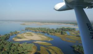 Zambezi Rier aus der Luft