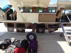Stauraum bei einer Flugsafari