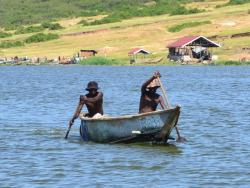 Fischer auf dem Kazinga Channel