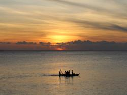 Sonnenuntergang auf Sansibar, der Traum Insel Tansanias